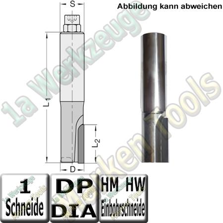 DP Dia Fräser Ø 16mm x35x95mm   Schaftfräser Z1 JSO DIANOVA-UNO S=16x45