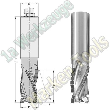 DP Dia Fräser Ø 25mm x28x110mm JSO Schaftfräser Z3 DIAMATIC 15551 S=25x60 L.