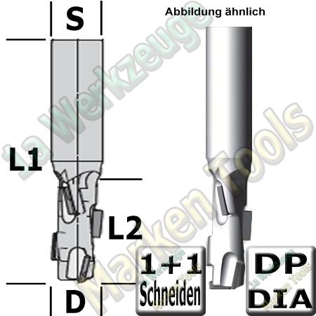DP Dia Schaftfräser � 16mm x22x90mm Z1+1 Ecoline 3502 Schaft 25mm