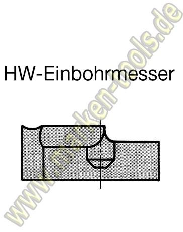 Einbohrschneide für Novitec Schaftfräser Ø18mm links