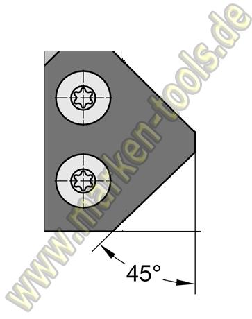 Fasemesser 30 x 25 x 2 mm, 45° für Gr.2 T2, VE=2 Stück