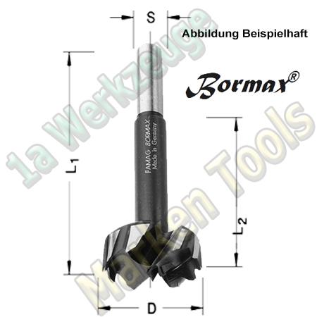 Forstnerbohrer Famag Bormax, Satz 15-teilig im Holzkasten WS Ø10,12,15,16,18,20,22,25,26,28,30,35,40,45,50mm