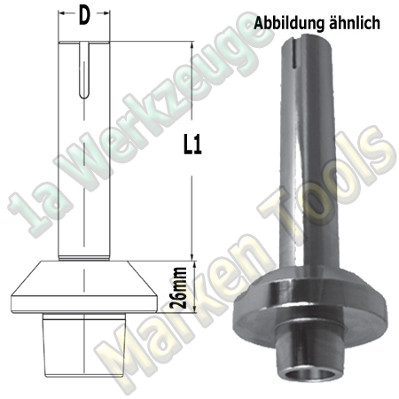 Fräsdorn Hofmann Martin Panhans SCM HSK/Weinig D=40x180mm, A=26mm