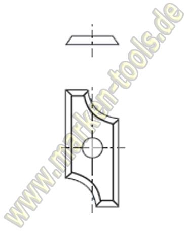 HM Abrund-Wendemesser HW 19.5x9x1.5 Z4 Radius=4