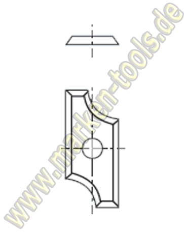 HM Abrund-Wendemesser HW 19.5x9x1.5 Z4 Radius=5