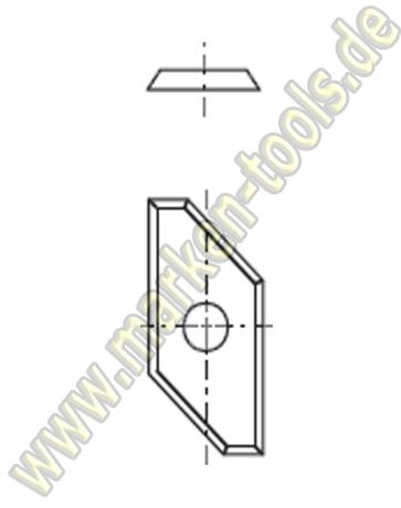 HM Fase-Wendemesser HW L3=10mm 30x14.5x1.5mm (2Stk.)