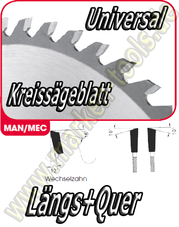 HM HW Sägeblatt Ø 300x3.2x2.2x30mm Z=28 WS NL Combi2 SDB