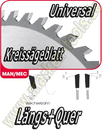 HM HW Sägeblatt Ø 500x4.4x2.8x30mm Z=44 WS NL Combi2