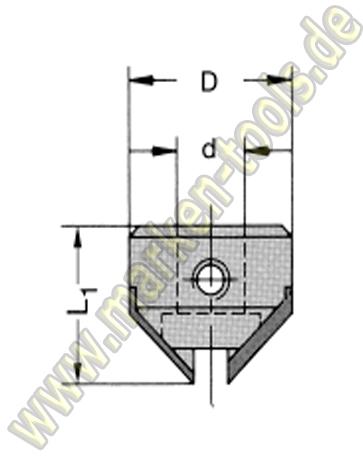 HM Senker 90 ° für Schaftspannung Schaft 10mm
