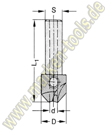 HM Senker 90° S=10x30 für Bohrer 3mm L.