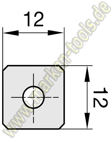HM Wendeplatte HW Wendemesser 12 x 12 x 1.5 Z4 Fase 10 Stück 1 Loch