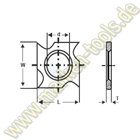 HM HW Wendeplatte Wendemesser 18 x 18 x 1,95 Vorschneider Hakenform 10 Stück