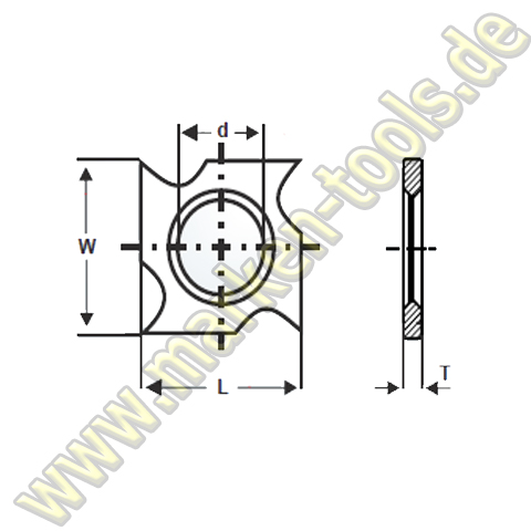 HM HW Wendeplatte Wendemesser 18 x 18 x 2,95 Vorschneider Hakenform 10 Stück