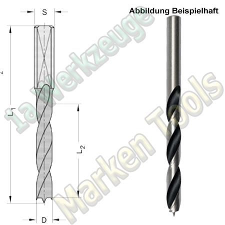 HS HSS Dübelbohrer Dübelochbohrer Ø 8mm x45x85mm Schaft 10mm