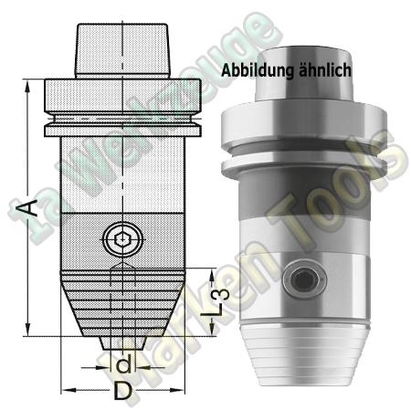 HSK 63 E CNC Präzisions Bohrfutter  d=3-16