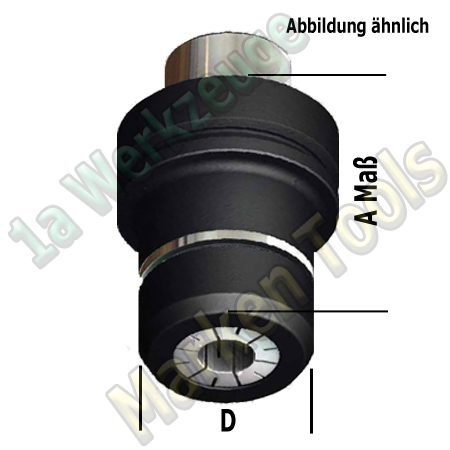 HSK 63F Präziso CNC Spannzangenfutter OZ25 462E Spannzange A=75 D=50mm
