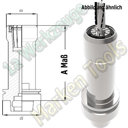 HSK 63F CNC Spannzangenfutter ER32 470E Spannzange A=150mm D=48mm Zeta Innenmutter