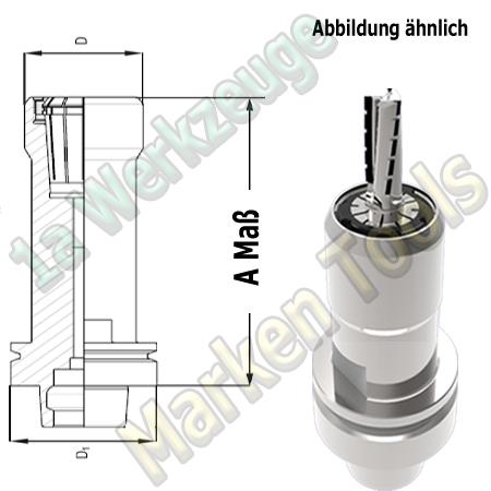 HSK 63F CNC Spannzangenfutter ER32 470E Spannzange A=60mm D=48mm Zeta Innenmutter