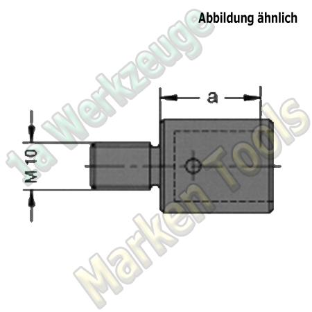 Maschinenteil für Schnellwechsel Bohrfutter zyl.Ausführung Gewinde M10 Rechts