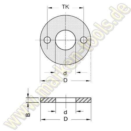 Ringsatz d=20mm für L2=40mm