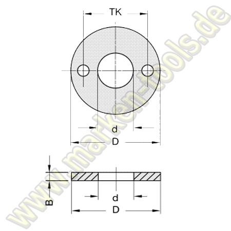 Ringsatz d=20mm für L2=55mm