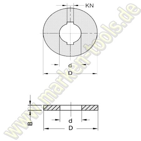 Ringsatz d=30mm für L2=80mm