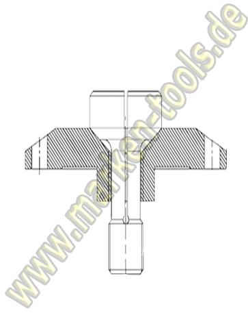 Sägeflansch zu EASY FIX Sägeblattaufnahme Ø70 DIN 912 M12x30 Schraube