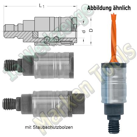 Schnellspann Bohrfutter für Schaft Ø10mm Bohrer L. M8 P9mm