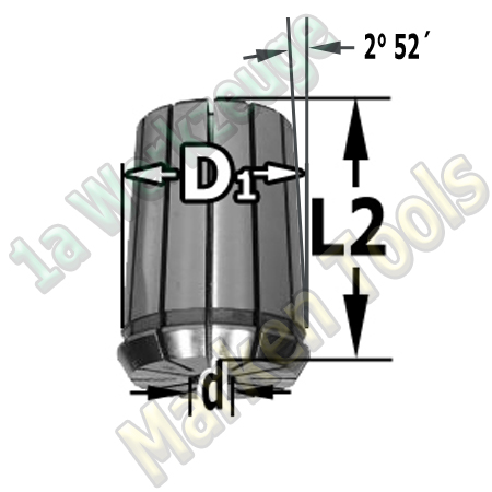 Spannzange 12mm 462E OZ25 DIN 6388