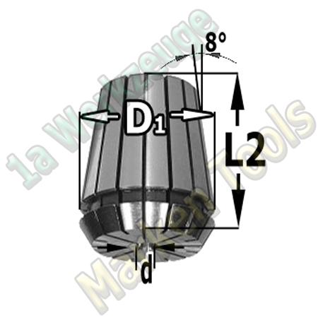 Spannzange 8mm ER32 470E DIN 6499