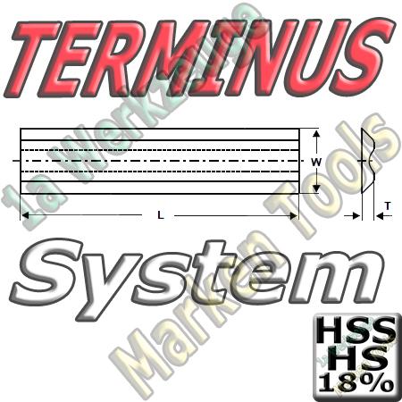 Terminus Hobelmesser 310x14x2.5 HSS18 HS18 2Stck.