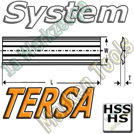 Tersa System Hobelmesser  250mm x10x2.3mm HSS HS Standard 2 Stück