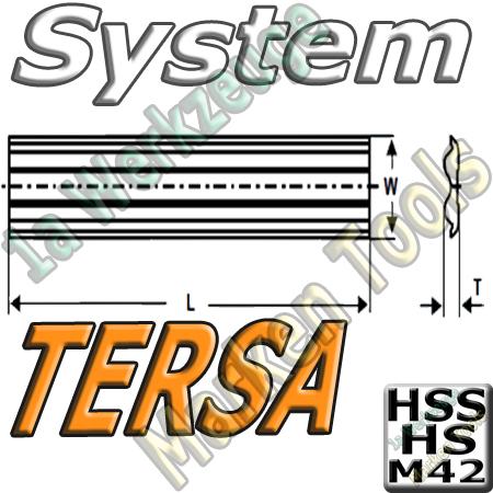 Tersa System Hobelmesser 130mm x10x2.3mm HSS M42 2 Stück