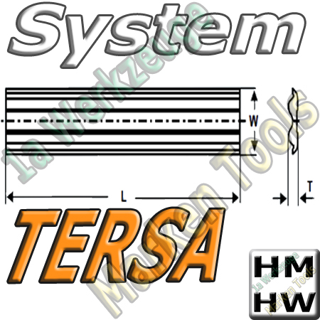 Tersa System Hobelmesser 200mm x10x2.3mm HM HW 2 Stück