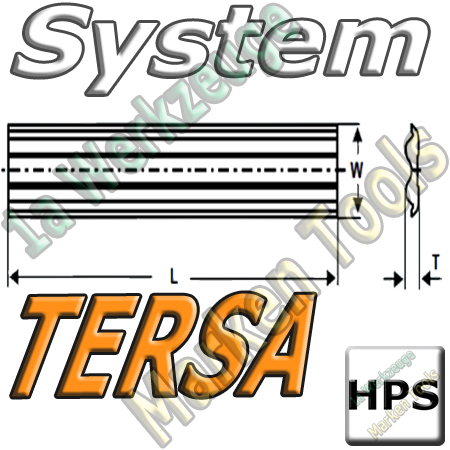 Tersa System Hobelmesser 450mm x10x2.3mm   HPS 2 Stück