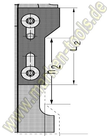 Wechselplatte Fasemesser45° für Gr.1 T1 oben