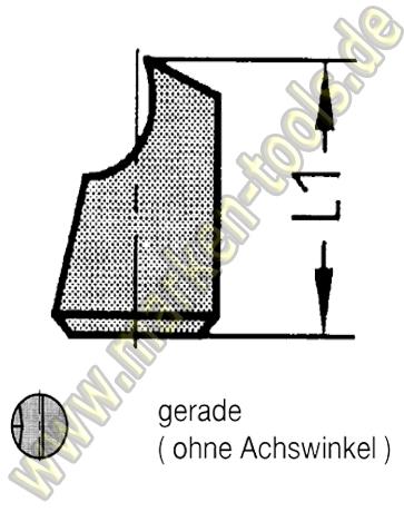 Wechselstift für Novitec Fräser Gr.1 (Ø16-20mm) Ø5mm gerade