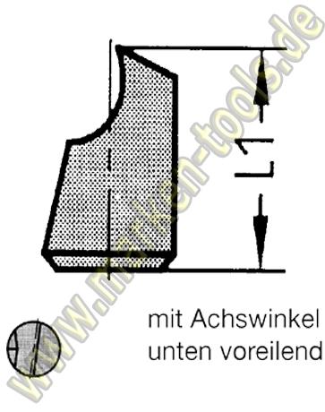 Wechselstift für Novitec Fräser Gr.2 (ab Ø21mm) Ø5mm unten voreilend