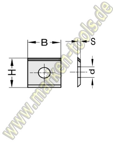 Wendeplatte Wendeschneidplatte DIA DP 15x12x1.5mm 1seitig 1 Loch