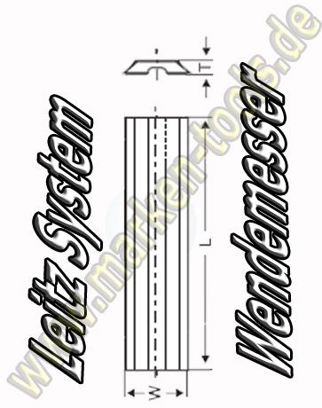 Wendeplatten Wendemesser 35 x 8 x 1.5mm Leitz-System 10 Stück HW05