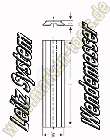 Wendeplatten Wendemesser 60 x 8 x 1.5mm Leitz-System 10 Stück HW05