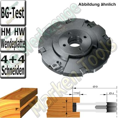 Wendeplatten Verstellnuter mit Zwischenringen HM HW 140mm 4-15mm Z4+2+ V4 t max.32mm