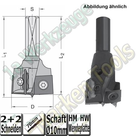Wendeplatten Zylinderkopfbohrer Ø30mm x 57,5mm