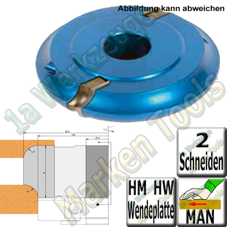 WP-Radienfräser Viertelstabfräser R=5mm Konkav/Konvex Ø110 x 20x30mm