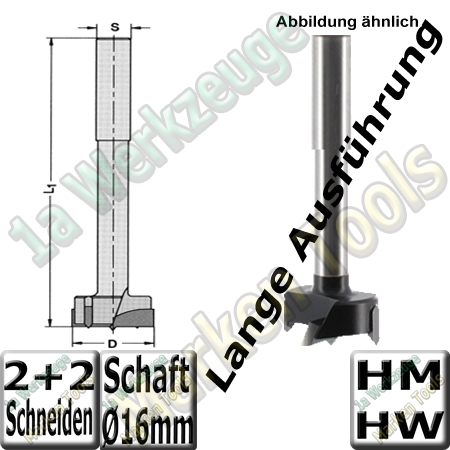 Zylinderkopfbohrer HM HW Z2+V2 Ø45x140mm S=16